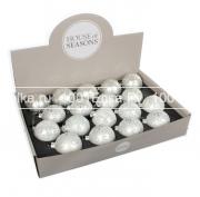 Набор белых шаров 7 см, 18 шт.