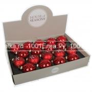 Набор красных шаров 7 см, 18 шт.