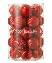 Набор красных шаров 7 см, 34 шт.