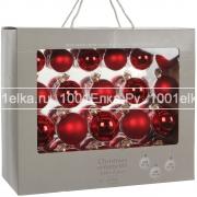 Набор красных шаров 7 - 6 - 5 см, 42 шт.