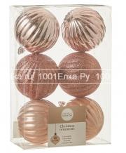 Набор розовых шаров 7 см, 6 шт.