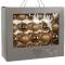 Набор золотистых шаров 7 - 6 - 5 см, 42 шт.