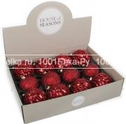 Набор красных шаров 8 см, 12 шт.