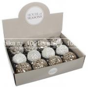 Набор серебристых шаров 8 см, 12 шт.