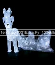 """Светодиодная фигура """"Олень с санями"""" 50 см - 160 LED"""