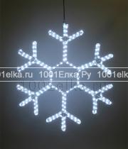 Светодиодная снежинка (белый) - 70 см.