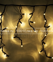 Бахрома Icicle light 3,2x0,9m - 232 LED (каучук черный)