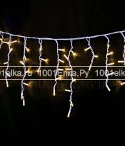 Бахрома 4,8x0,9m - 348 LED (прозрачный силикон)