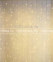 Светодиодный занавес облегченный 2x2м - 400 LED (pvc прозрачный)