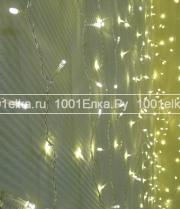 Светодиодный занавес облегченный 2x2м - 400 LED мерцание (pvc прозрачный)