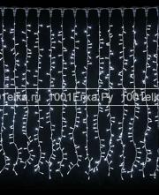 Светодиодный занавес 1x9м - 900 LED (каучук черный)