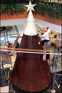 Шоколадная новогодняя елка