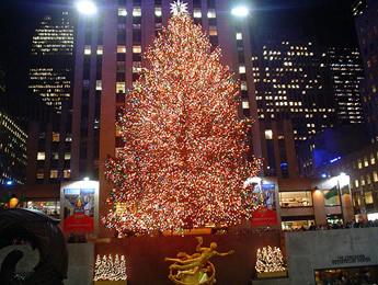 Рождественская елка в Рокфеллер Центре (Нью-Йорк)